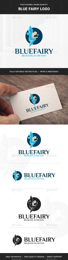 Blue Fairy Logo EPS Template  • Only available here ➝ http://graphicriver.net/item/blue-fairy-logo-template/16681474?ref=pxcr