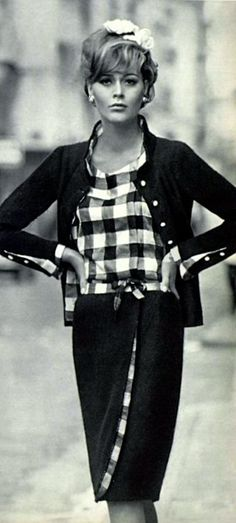 Chanel 1965 - timeless look and I would wear this today.