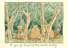 Anita Jeram card for Two Bad Mice