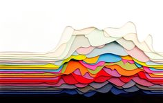 Colourful Layered Paper Sculptures By French Artist And Designer Maud Vantours  LOVE this! Simplicity itself but beautifully complex.