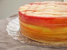 Rabarbercheesecake. Rhubarb vanilla cheesecake