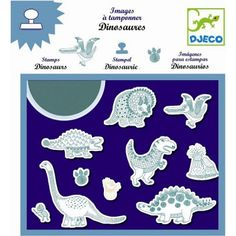 Buy Djeco: Design - Dinosaurs Stamps at Mighty Ape Australia. A fantastic set of dinosaur stamps! Create scenes with the stamps and colour them in (pens available rubber and foam stamps All Dinosaurs, Foam Stamps, Shops, Eco Friendly Toys, Small Art, Baby Kind, Tampons, Craft Kits, Craft Ideas