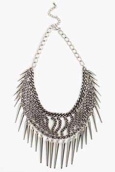Chained Spike Collar Necklace in Accessories Jewelry at Nasty Gal