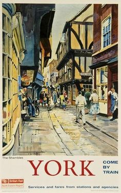York - The Shambles - British Railways - 1960's - (Leslie Carr) -