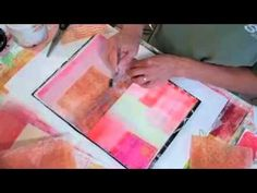 ** gel plate and deli papers journal by Jane Davies (videos to watch on YouTube)