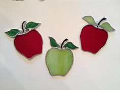 Stained Glass Apple Suncatcher by QTSG on Etsy