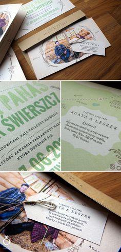 Rustic Wedding Invitations for Agata & Leszek / Designed by Calym Sercem