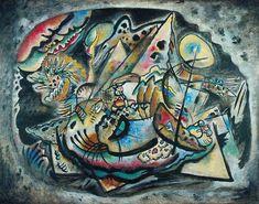 """Wassily Kandinsky - """"Grey Oval"""", 1917"""