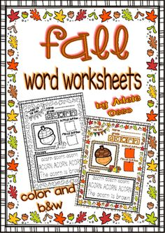Fall is almost over and here you go!!! - Be 1 of the 4 winners!!!.  A GIVEAWAY promotion for Fall Word Worksheets (Write, Color, Trace and Read / Color and b&w Versions) from Adeleteacher on TeachersNotebook.com (ends on 11-26-2014)