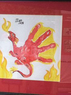Dragon hand print