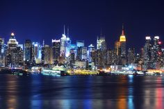Midtown Manhattan at Night from Old Glory Park by andrew c mace, via Flickr