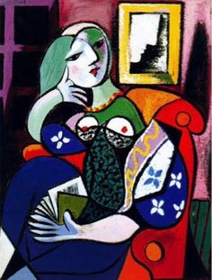 PabloPicasso Woman with a Book, 1932
