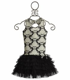 Ooh La La Black Damask Ruffle Dress for Girls Couture Party Dress