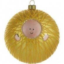 Een van de kerstballen van Alessi, baby Jesus.