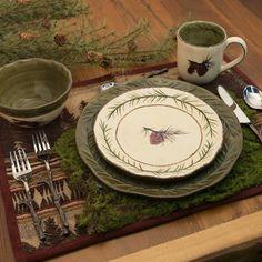 Pine Cone Dinnerware and Stoneware accessories