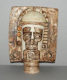 Fabulous TROIKA Aztec Face Mask by Anne Jones 1976 - Newlyn - Cornwall