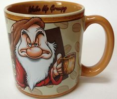 Grumpy coffee mug Disney Store Studio Collection
