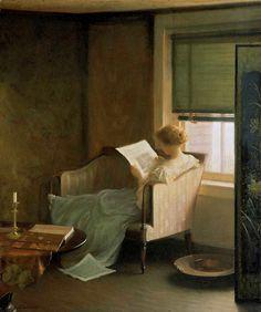 Reading and Art blog met alleen maar lezende vrouwen.