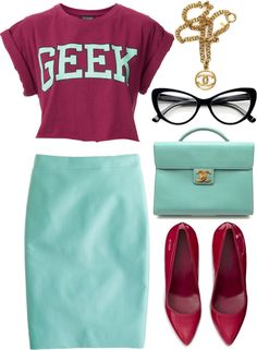 """geek."" by goldiloxx on Polyvore"