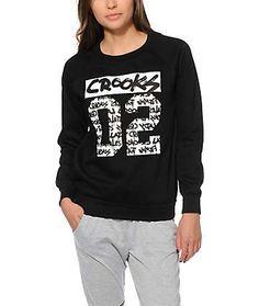 Crooks and Castles All City Crew Neck Sweatshirt Best Streetwear Brands, Crew Neck Sweatshirt, Graphic Sweatshirt, Crooks And Castles, Full Zip Hoodie, Hoodies, Sweatshirts, Glamour, My Style