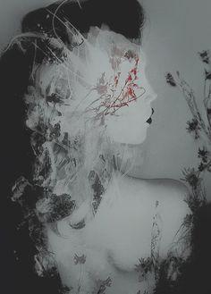 dark, surreal, #abstract, portrait, #digital, art. v/deviantART.com