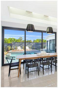 Sliding stacker door by Wideline in Buildcraft Constructions display home. www.wideline.com.au