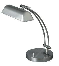 lampa de birou BANK2 4039 argintie, cu ajustare la abajur si la baza piciorului, marca RabaLux