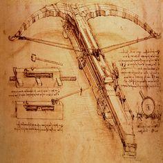 Giant Catapult, Circa 1499 by Leonardo Da Vinci Canvas Print #1357