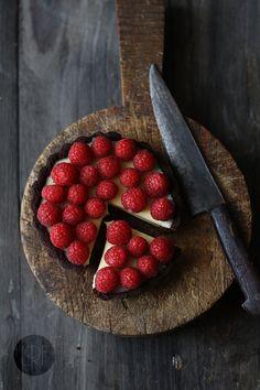Chocolate, Raspberry, & Mascarpone Tarts | la receta de la felicidad