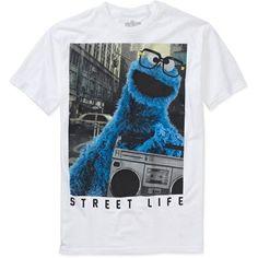 8e2c38f66f GENERIC - Generic Cookie Monster Big Men's Graphic Tee - Walmart.com