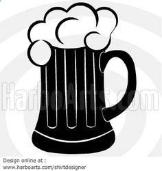 Black clipart of beer mug with handle and foam. Free Vector Art, Vector Graphics, Pint Of Beer, Silhouette Images, Chalkboard Art, Art Boards, Stencils, Clip Art, Design Inspiration