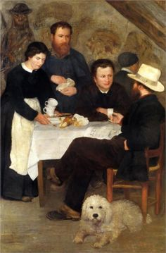 Pierre-Auguste Renoir (French 1841–1919) [Impressionism] The Inn of Mother Anthony, 1866. Nationalmuseum, Stockholm, Sweden.
