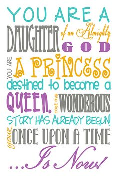 You are a daughter Subway art puple gold turq gray
