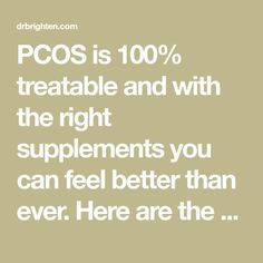 PCOS is 100% treatable and with the right supplements you can feel better than ever. Here are the best supplements for PCOS and why you should be taking them!