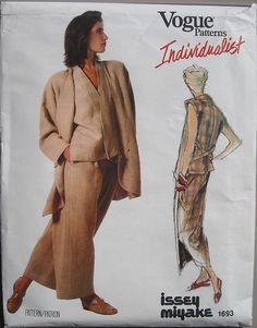 Issey Miyake Vintage 80s Vogue 1693 Jacket Skirt by omasbricabrac, $145.00