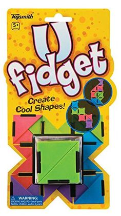 """21 multi-colored 2"""" hinged triangles. When folded, U Fidget measures 2"""" x 2"""" x 2"""". Toysmith's mission is to supply quality toys and gifts while delivering superior customer service to retailers. We of"""