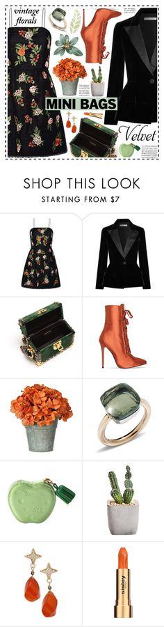 """So Cute :Mini Bags!"" by hennie-henne ❤ liked on Polyvore featuring Alice + Olivia, Oscar de la Renta, Prada, Pomellato, Paul & Pitü Naturally and Sisley"