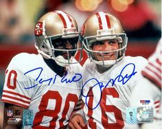 San Francisco 49ers - Joe Montana and Jerry Rice picture together Signed Autographed Photo