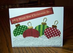 IC260 Christmas Ornatment's by jandjccc - Cards and Paper Crafts at Splitcoaststampers