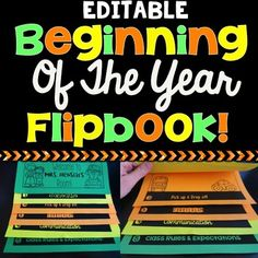 This editable flipbook is so easy for you, your students, or your parents to assemble and use. There is NO cutting or gluing. Learning Resources, Teaching Ideas, Back To School, High School, Elementary Teaching, Content Area, Little Learners, Love Is All