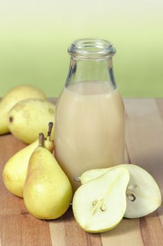 pears assembly surrounding a pear juice bottle Juice Bottles, Smoothies, Food And Drink, Fruit, Pears, Drinks, Syrup, Smoothie, Drinking