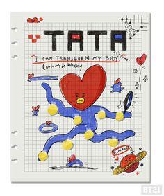 Tata ❤ created by V 방탄소년단 Bt 21, Dibujos Cute, Journal Aesthetic, Bts Drawings, Bts Chibi, Line Friends, Bts Wallpaper, Journal Inspiration, Taehyung
