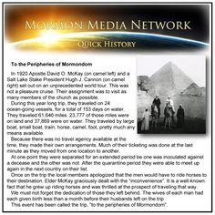 MormonMediaNetwork.com - To the Peripheries of Mormondom -- David O. McKay