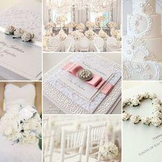 Wedding stationery by www.tigerlily-creations.co.uk #wedding #weddinginvitations #lace #blush #white