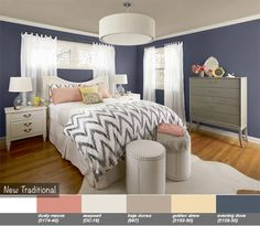 Popular Office Colors Elegant New Traditional Bedroom Walls Evening Dove Ceiling Baja Image Of In Exterior Ideas Color What Represents Stress Feng Shui For Living - Popular Bedroom Paint Colors Williams Home Girls Bedroom, Bedroom Decor, Master Bedroom, Bedroom Ideas, Bedroom Inspiration, Bedroom Wall, Design Bedroom, Peach Bedroom, Blue Bedrooms
