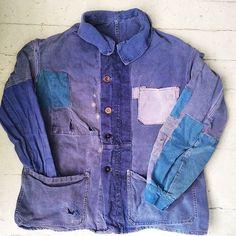 Favorite find from #inspirationla  #indigo #french #chore #jacket #patchwork #repairs #mine