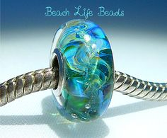 BIG KAHUNA OPAL Fully Lined Sterling Silver Big by beachlifebeads, $20.00
