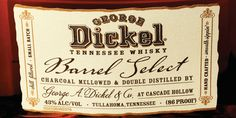 George Dickel Tennessee Whisky  - The Dieline -