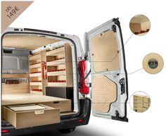Kits d'aménagement bois pour fourgons, véhicules utilitaires et VUL