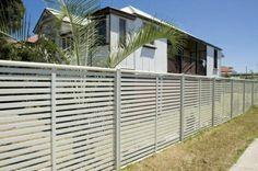 palissade de jardin espacée en acier